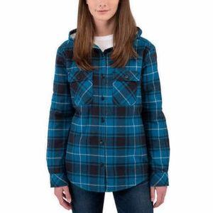 Boston Traders Jackets & Coats - Boston Traders Sherpa Lined Hooded Flannel Jacket